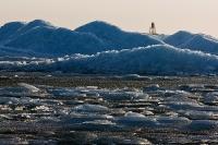 Vuurtoren in het ijs